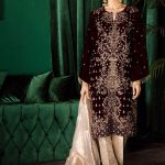 Iznik Online Unstitched Velvet Shirts Looking Design 2020