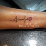 Amazing Tattoos Designs Heart Beat Looking Design 2020