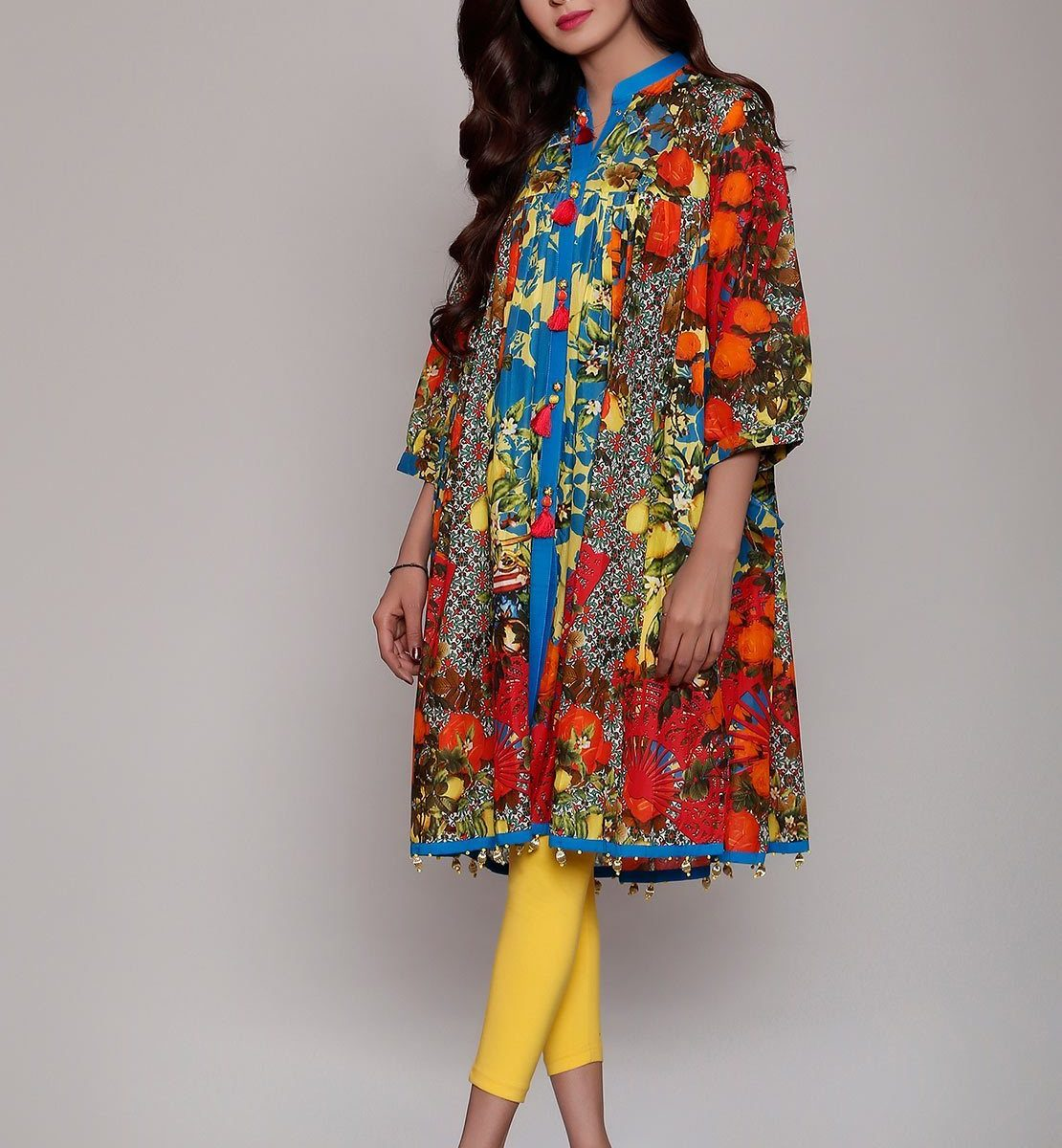 Beautiful Lawn frock Designs & Kurtis for Girls 2020