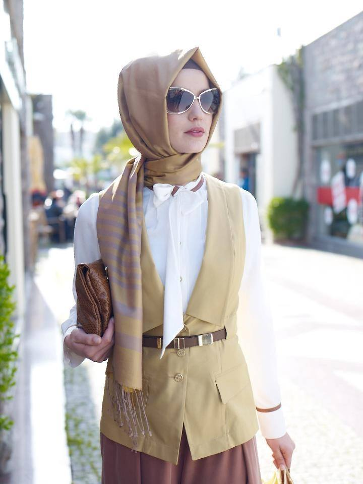 Office Wear Hijab Ideas for Young Beautiful Women 2020