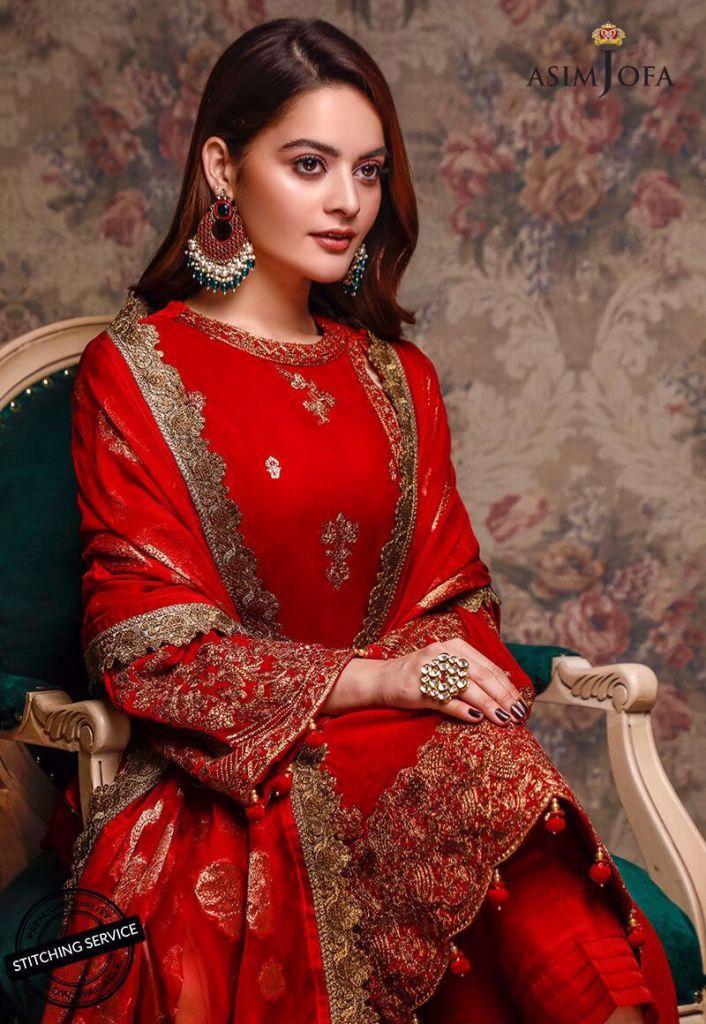 Asim Jofa Winter Velvet Collection 2020 Stylish Look