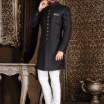 Top Brands Black Sherwani For Groom Look 2021